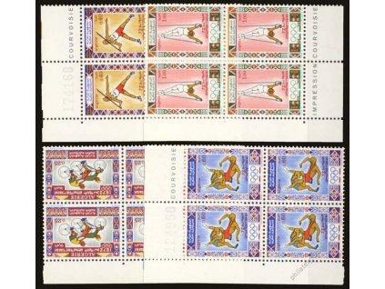 Alžír, 1972, 25C-1D série Sport, MiNr.583-86, **