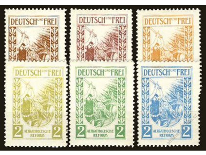 Deutsch und Frei, Altkatholischreform 2Pf, 6 ks **