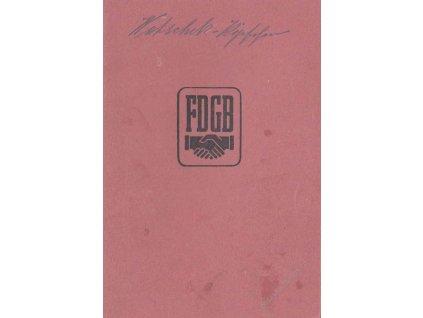 FDGB, průkazka Mitgliedbuch z roku 1947