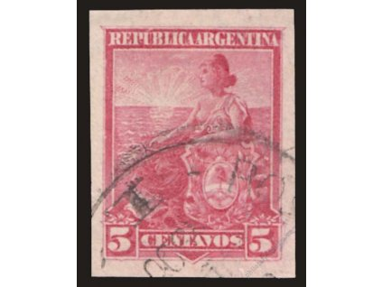 Argentina, 1899, 5C Alegorie, nezoubkovaná