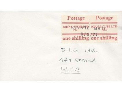 1971, dopis vyfr. známkami Britské privátní pošty, zasl. v Anglii