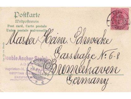 Aden, 1905, DR Aden 4.9.1905,  lithografická pohlednice