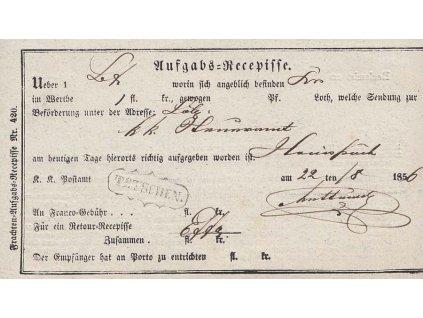 Tetschen, recepis z roku 1856
