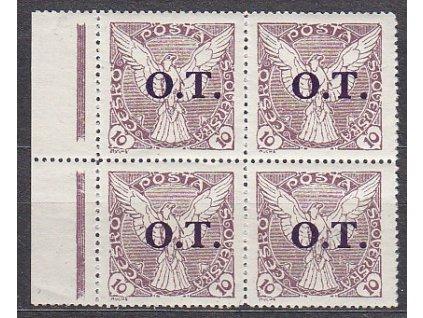 10h O.T, ministr. Řz.13 3/4, kraj. 4blok, Nr.OT1, **