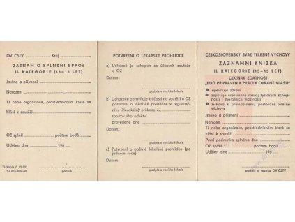 Záznamní knížka II. kategorie (13-15 let) z rojz 196., nepoužité