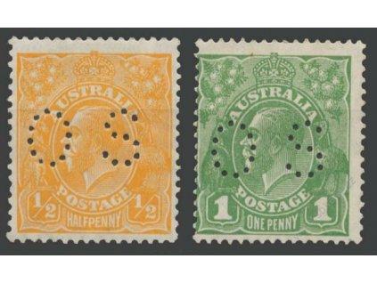 Austrálie, 1926, 1/2 a 1P služební, * po nálepce