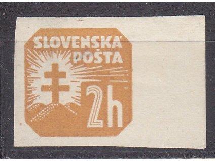 2h Novinová, vodorovný rastr, krajový kus, Nr.NV10, * po nálepce