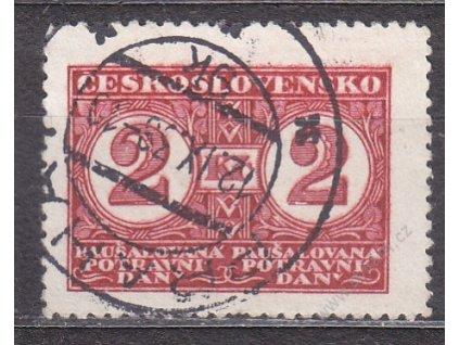 1935, 2Kč Potravní daň, Nr.PD10B, razítkovaná, ilustrační foto