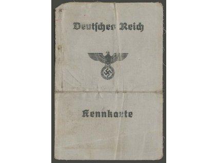 Kennkarte z roku 1942, přeloženo, celkově horší jakost