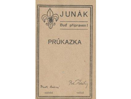 Junák, Buď připraven, průkazka z roku 1946, zachovalé