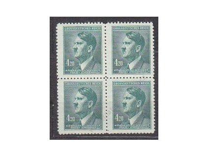 1945, 4.20K Hitler, 4blok, Nr.122, **