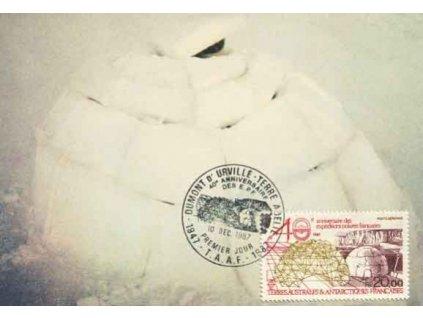 Antarktické území, 1987, DR Dumomt 10.12., Carte Maxima