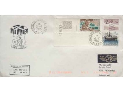 Antarktické území, 1995, DR Dumomt 21.6., dopis