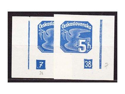 1937, 5h modrá, DČ 7-39, přerušované rámy, **