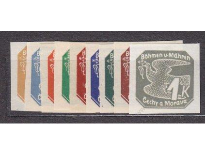 1939, 2h-1K Novinové I, série, Nr.NV1-9, **