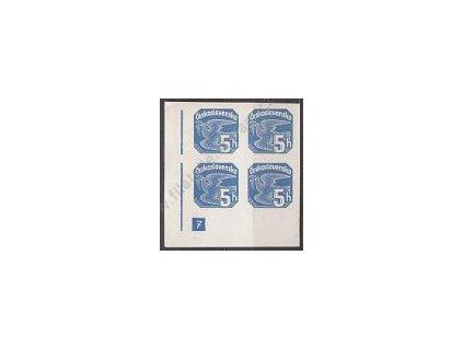 5h modrá, levý roh. 4blok s DČ 7 - přerušený rám