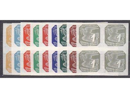 1943, 2h-1K Novinové II, série, 4bloky, Nr.NV10-18, **