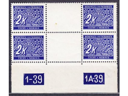 A-2K modrá, 2meziarší s DČ 1-39 1A-39, Nr.DL11, **