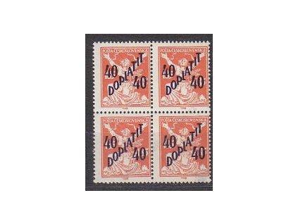 40/185h oranžová, 4blok, Nr.DL48, **