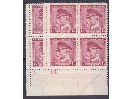 1939, 1K Masaryk, roh. 4bloky s DČ 1 a 1A, Nr.352
