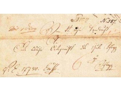 1820, v:Prag, skládaný dopis, horší jakost
