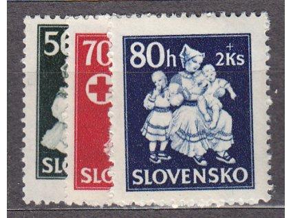1943, 50-80h Dobročinné, série, Nr.84-6, **, ilustrační foto