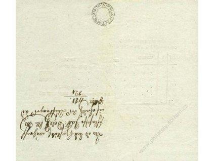 1821, formulář Nota s kolkem 3Kr, A5