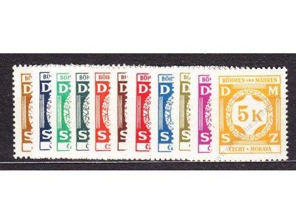 1941, 30h-5K Služební I, série, Nr.SL1-12, **