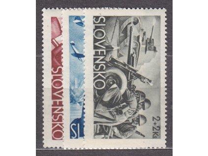 1943, 70h-2Ks Vojenské, série, Nr.87-9, **, ilustrační foto