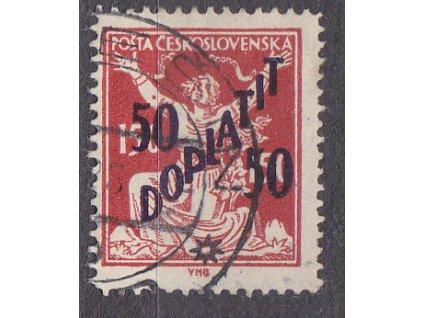 50/150h červená, Řz.13 3/4, Nr.DL50B, razítkované, ilustrační foto