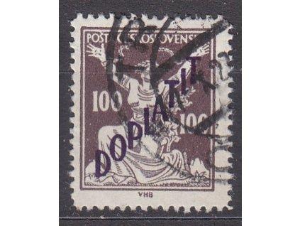 100h hnědá, Řz.13 3/4, Nr.DL53B, razítkované, hezký kus