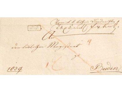 1829, Prag, skládaný dopis