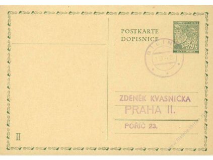 Bílin, 1945, II. díl protektorátní dopisnice
