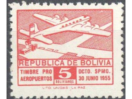 Bolivie, 1956, 5B červená, MiNr.25, **