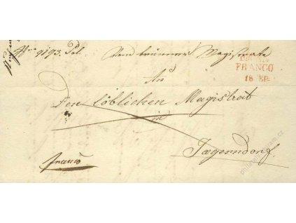 Brunn + Franco, červená razítka z roku 1844