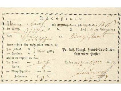 Brno, recepis z roku 1829, lehce přeloženo