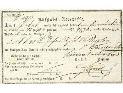 Brno, recepis z roku 1843, lehce přeloženo