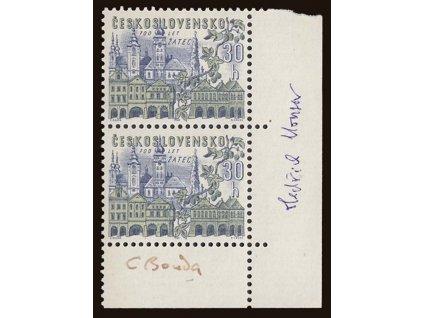 Bouda Cyril, Housa, podpisy na známkách z roku 1965, **