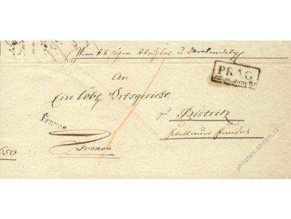 1831, Prag + Franco, skládaný dopis
