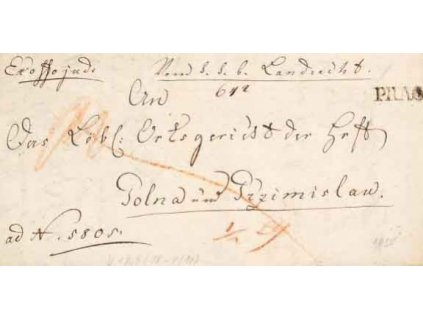 1835, Prag, skládaný dopis