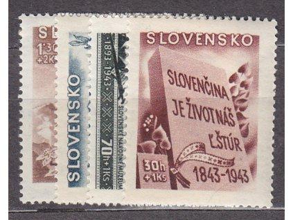 1943, 30h-1.30Ks Kulturní, série, Nr.94-7, **, ilustrační foto