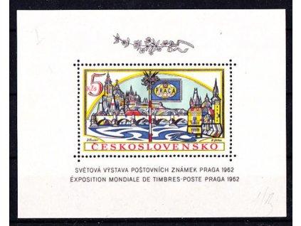1962, aršík 5Kčs PRAGA 1962, zoubkovaný, typ III, 1.náklad, Nr.A1268A, **