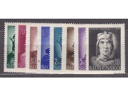 1944, 50h-10Ks Knížata, série, Nr.98-105, **, ilustrační foto