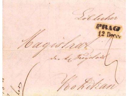1841, Prag, skládaný dopis