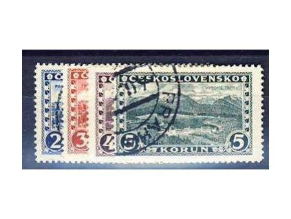 1926, 2-5Kč série Praha, Tatry, Nr.225-8, razítkované, ilustrační foto