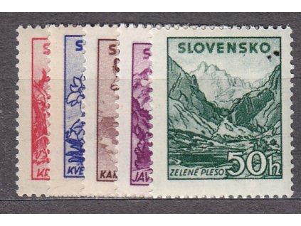 1944, 10-50h Tatranské, série, Nr.106-110, **, ilustrační foto