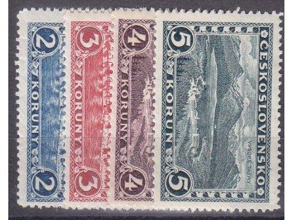 1926, 2-5Kč Praha-Tatry, série bez průsvitky, Nr.229-32, **, ilustrační foto