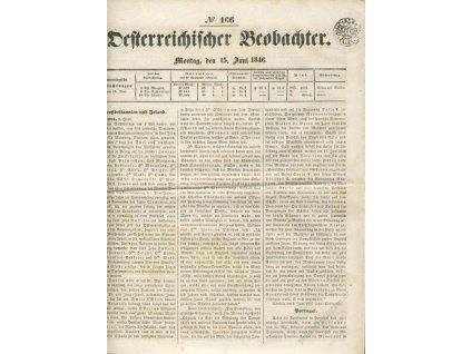 1846, Zeitung 1K 1846, list novin No.166, A4