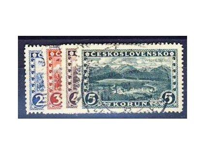 1926, 2-5Kč série Praha, Tatry, Nr.229-32, razítkované, ilustrační foto
