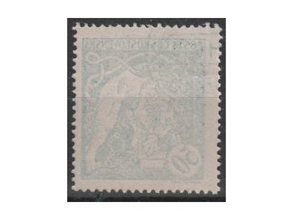 50h modrá, tenký průsvitný papír, Nr.29, **, zelený nátisk